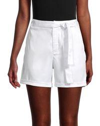 Saks Fifth Avenue Women's Tie-waist Chino Shorts - Black - Size 6