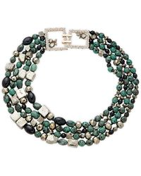 Alexis Bittar 22k Goldplated, Lucite & Crystal Strand Necklace - Multicolor