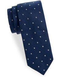 Saks Fifth Avenue - Dot Silk Tie - Lyst