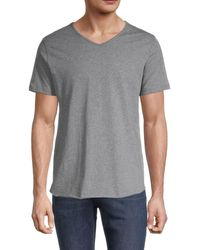 Unsimply Stitched Men's V-neck T-shirt - Heather Grey - Size S