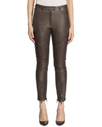 Moschino Leather Cargo Pants - Multicolor