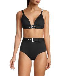 Love Moschino Women's Buckle Bikini Top - Nero - Size 3 (l) - Black