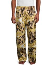 Versace Signature-print Silk Pyjama Trousers - Multicolour