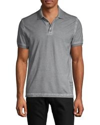 Zadig & Voltaire Short-sleeve Dyed Cotton Polo - Grey