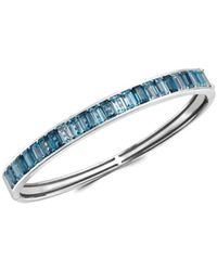 Effy Women's Sterling Silver, London Blue & Blue Topaz Bangle Bracelet - Metallic