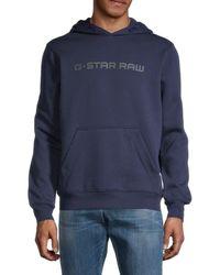 G-Star RAW Loaq Logo Hoodie - Blue