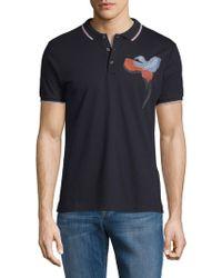 Antony Morato - Embroidered Cotton Polo - Lyst