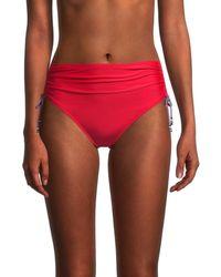 Tommy Hilfiger - Women's Side-tie High-rise Bikini Bottom - Scarlet - Size L - Lyst