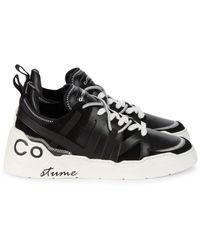 CoSTUME NATIONAL Colorblock-panel Low-top Sneakers - Black