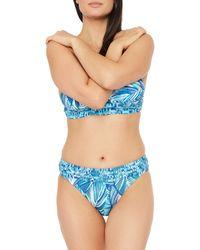 La Blanca Printed Bikini Bottom - Blue