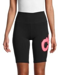 Calvin Klein - Women's High-rise Logo Bike Shorts - Black - Size L - Lyst