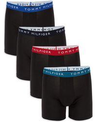 Tommy Hilfiger Men's 4-pack Stretch Logo Boxer Briefs - Blue Velvet - Size Xl