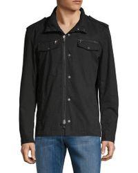 John Varvatos - Front Zip Hooded Shirt - Lyst