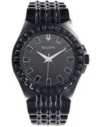 Bulova Stainless Steel Bracelet Watch - Black