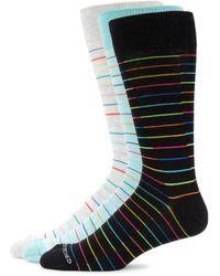 Unsimply Stitched Men's 3-pair Crew Socks - Black Multi