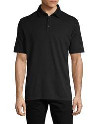 Saks Fifth Avenue Short-sleeve Polo - Black