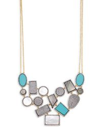 Freida Rothman - Crystal & Gemstone Geometric Bib Necklace - Lyst