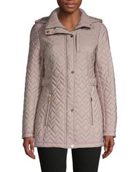 Calvin Klein Women's Quilted Hooded Jacket - Black - Size L