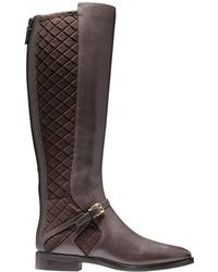 Cole Haan Riding Style Two Tone Boots - Brown