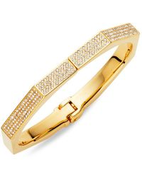 Vita Fede - 24k Goldplated Swarovski Crystal Octagon Hinge Bracelet - Lyst