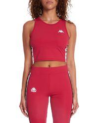 Kappa Women's 222 Banda Atvan Crop Top - Red - Size L