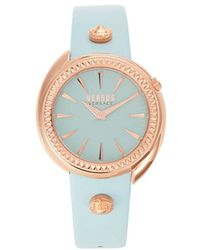 Versus Women's Stainless Steel & Leather-strap Watch - Blue