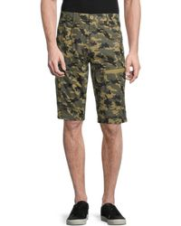 Standard Issue Camo Ripstop Utility Shorts - Green