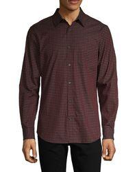 Perry Ellis Gingham-print Cotton Shirt - Multicolour