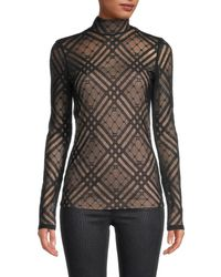 Akris Punto Semi-sheer Lace Top - Black