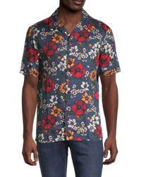French Connection Floral-print Shirt - Blue