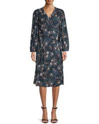 Velvet Nadia Floral Wrap Dress - Multicolour