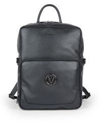 Valentino By Mario Valentino - Men's Theo Dollaro Convertible Pebbled Leather Backpack - Black - Lyst