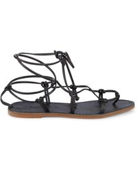 Madewell Women's Boardwalk Lace Up Sandals - Black - Size 5