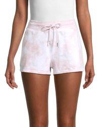 Marc New York Women's Tie-dyed Shorts - Blush - Size Xl - White