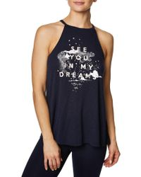 Betsey Johnson - See You In My Dreams Halter Tank Top - Lyst