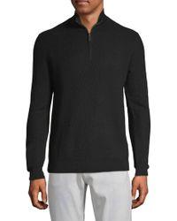 Saks Fifth Avenue - Textured Quarter-zip Wool Jumper - Lyst