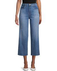 J Brand Joan High-rise Cropped Wide-leg Jeans - Blue