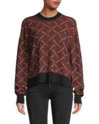 Marcelo Burlon County-print Dropped-shoulder Sweatshirt - Black