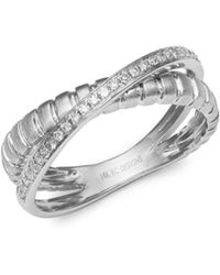 KC Designs - Diamond And 14k White Gold Ring - Lyst