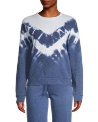 Marc New York Tie-dyed Cotton-blend Pullover - Blue