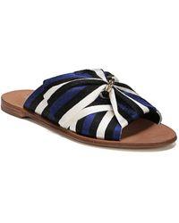 Diane von Furstenberg Bella Rose Ribbon Sandals - Blue