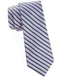 Saks Fifth Avenue Men's Ribbon Stripe Silk Tie - Blue