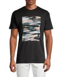 Vestige Men's City Lights Graphic Cotton T-shirt - White - Size S