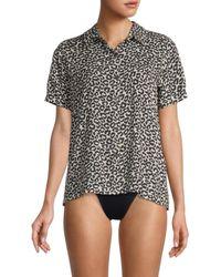 Solid & Striped Cabana Leopard-print Rashguard - Brown