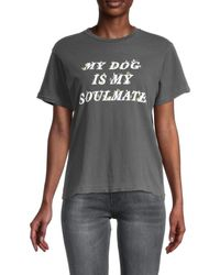 Wildfox Women's My Dog Is My Soulmate T-shirt - Gray - Size M