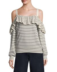 Joie - Delbin Striped Cold-shoulder Jumper - Lyst