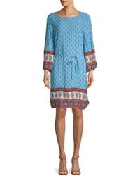 Beach Lunch Lounge - Belted Long-sleeve Shift Dress - Lyst