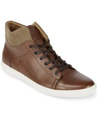 Kenneth Cole Design Leather High-top Trainers - Brown