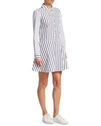 Derek Lam Striped Poplin Shirtdress - White