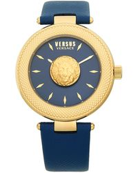 Versus Stainless Steel Leather-strap Watch - Multicolor